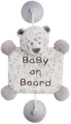 Знак автомобильный Nattou Baby on board Loulou, Lea Hippolyte Леопард 963442
