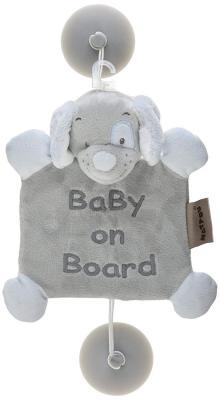 Знак автомобильный Nattou Baby on board Sam Toby Собачка 604352