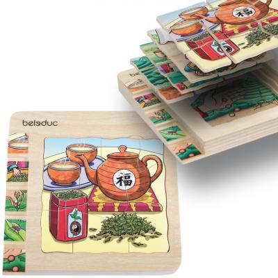 Купить Пазл Beleduc Чай 30 элементов, Пазлы для малышей