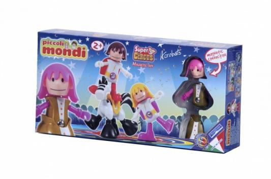 Купить Магнитный конструктор Plastwood Piccoli Mondi Super Circus Acrobats, Магнитные конструкторы для детей