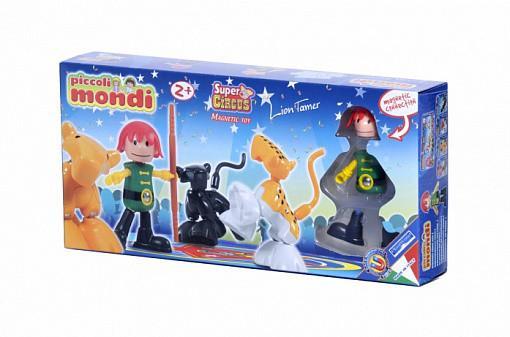 Купить Магнитный конструктор Plastwood Piccoli Mondi Super Circus Lion Tamer, Магнитные конструкторы для детей