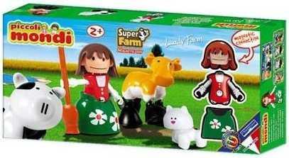 Купить Магнитный конструктор Plastwood Piccoli Mondi Super Farm Lady Farm, Магнитные конструкторы для детей