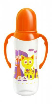 lubby бутылочка для кормления русские мотивы от 0 месяцев цвет оранжевый 125 мл Бутылочка с соской Русские мотивы, от 0 мес., 250мл., полипропилен, силикон, с ручками
