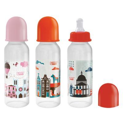 Бутылочка с соской Я люблю, от 0 мес., 250 мл., классика, полипропилен, силикон lubby бутылочка принцессы 14215 250 мл от 0 мес
