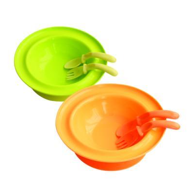 Купить Набор для кормления Lubby Тарелка с присоской в наборе с ложкой и вилкой 1 шт от 6 месяцев 00-0015013, н/д, Детская посуда для кормления