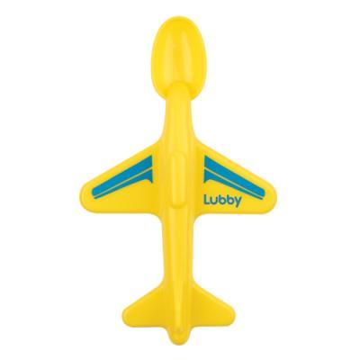 Купить Ложка Lubby Самолетик 1 шт желтый от 6 месяцев 16587, Детская посуда для кормления