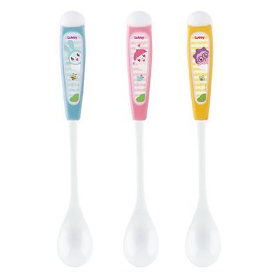 Купить Ложка Lubby Малышарики 1 шт разноцветный от 4 месяцев 20906, Детская посуда для кормления