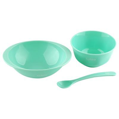 Тарелка Lubby Для первого прикорма 1 шт зеленый от 4 месяцев 20150