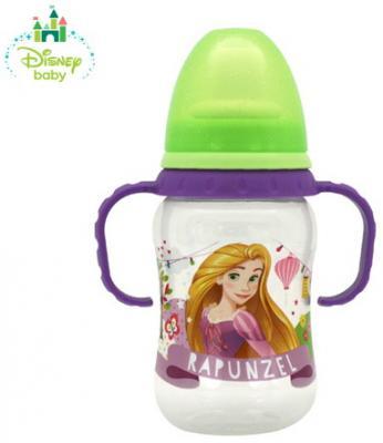 """Бутылочка для кормления """"Принцессы"""" с силиконовой соской,смен. нос.,от 0 мес.,250 мл, со шкалой"""
