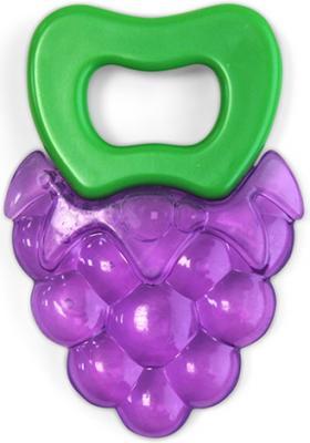 Купить Прорезыватель Виноградик , от 4 мес., силикон, вода, безопасный пластик, Lubby, фиолетовый, унисекс, Прорезыватели