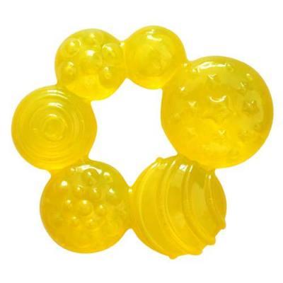 Купить Прорезыватель водный Lubby Геометрия желтый с 4 месяцев охлаждающий, силикон, вода, унисекс, Прорезыватели