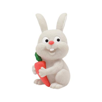 Купить Игрушка для купания Зайчик- Пищалка , от 12 мес., пвх, Lubby, белый, 12 см, Игрушки для купания