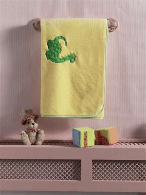 Купить Плед велсофт Baby Dinos , 100% полиэстер, размер 80*120 см, KIDBOO, желтый, 80 x 120 см, Одеяла и пледы