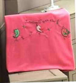 Плед флисовый Singer Birds, 100% полиэстер, размер 80*120 см kidboo kidboo халат singer birds махровый розовый