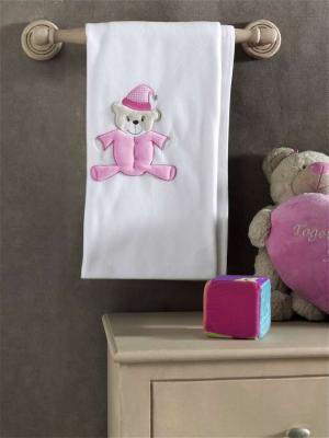 Купить Плед флисовый Teddy Boo , 100% полиэстер, размер 80*120 см, KIDBOO, розовый, 80 x 120 см, Одеяла и пледы
