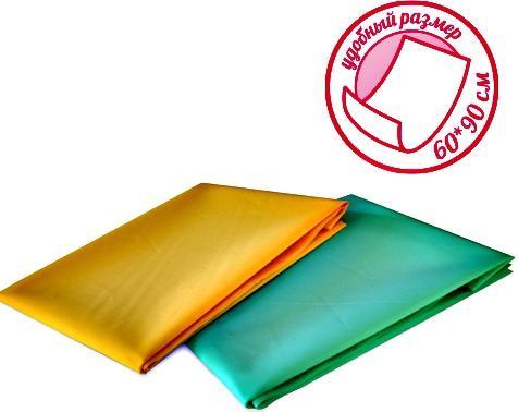 Купить Клеенка для ухода за детьми Стандарт от 0 мес., 60х90см., полиэтиленвинилацетат, LUBBY, разноцветный, Впитывающие пеленки