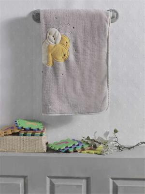 Купить Плед хлопок/велюр серии Butterfly , 75% хлопок, 25% полиэстер, размер 80*90 см, KIDBOO, серый, 80 х 90 см, Одеяла и пледы
