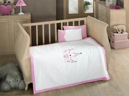 КПБ 4 предметов с вафельным покрывалом серии Little Princess