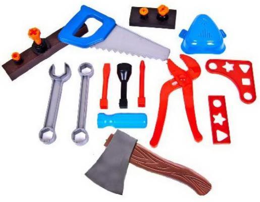 Купить Набор игрушек развивающих Юный плотник , муз., от 12 мес., пластик, 2шт, Lubby, для мальчика, Игровые наборы Юный мастер