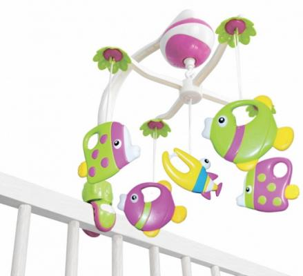 Интерактивная игрушка Maman Музыкальная карусель 13015 с рождения 13015 мобили maman музыкальная карусель с универсальным креплением 13015