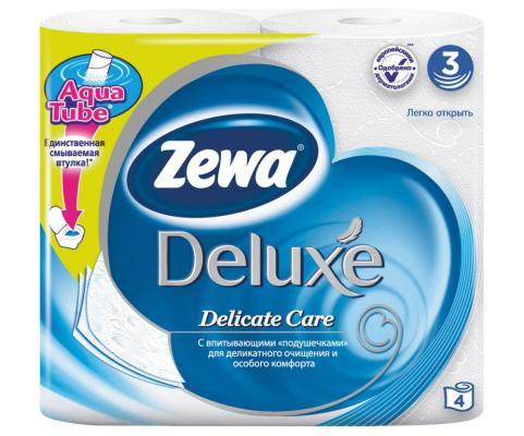 купить Бумага туалетная Zewa Делюкс 3-ех слойная 4 шт 3228 недорого