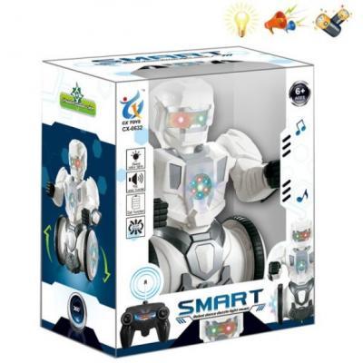 Купить Робот радиоуправляемый Наша Игрушка Робот 24 см на радиоуправлении со звуком светящийся, Игрушки Роботы