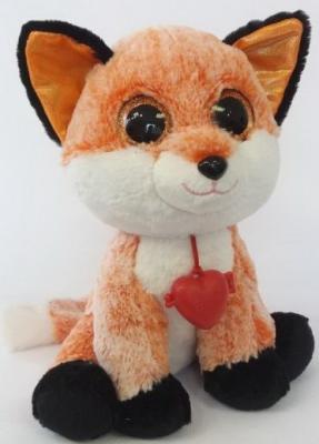Купить Мягкая игрушка Глазастик Лисёнок, Фэнси, рыжий, 23 см, искусственный мех, Животные