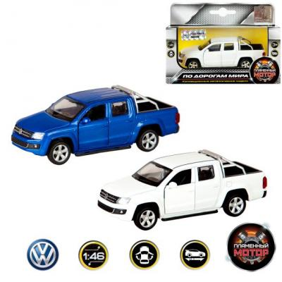 Автомобиль Пламенный мотор Volkswagen Amarok 1:46 цвет в ассортименте 870220 лампа led clearlight laser vision h4 4300 lm 24w 2 шт