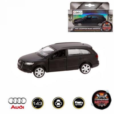 Автомобиль Пламенный мотор Audi Q7 1:43 черный 870295 сигвэй gyro с ручкой мотор 300вт колеса 10 черный