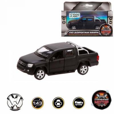 Автомобиль Пламенный мотор Volkswagen Amarok 1:46 черный 870298 сигвэй gyro с ручкой мотор 300вт колеса 10 черный
