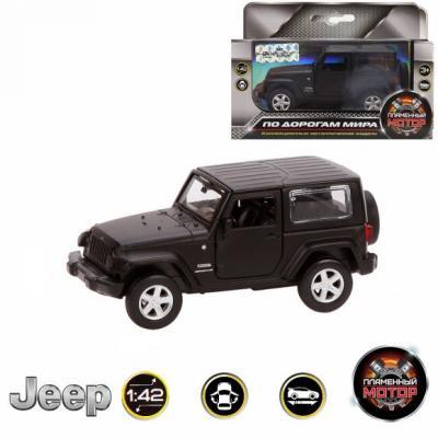 Автомобиль Пламенный мотор Jeep Wrangler 1:42 черный 870299 сигвэй gyro с ручкой мотор 300вт колеса 10 черный