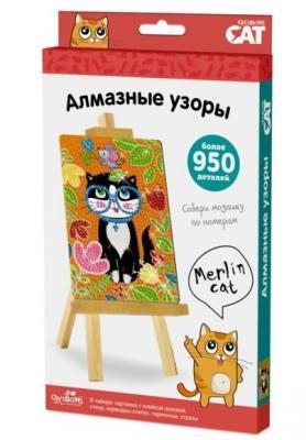 Мозаика Алмазные узоры Кошка Мерилин набор для творчества оригами арт терапия мозаика алмазные узоры лотос 02459