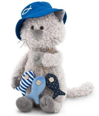 Купить Мягкая игрушка кот ORANGE Кот Обормот Рыбак искусственный мех текстиль 20 см, разноцветный, искусственный мех, текстиль, Животные