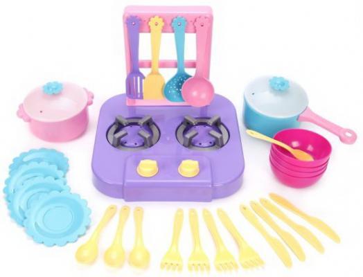 Плита-ведро с набором посуды 27 пр. в сетке посуда и наборы продуктов mary poppins зайка в сетке 10 пр