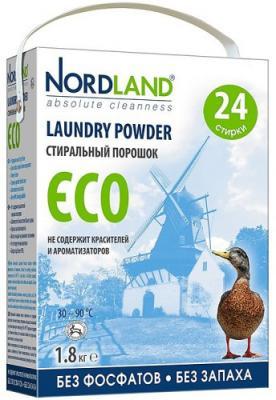 NORDLAND Порошок для стирки ECO 1,8 кг таблетки д стирки nordland eco 24х33 75г
