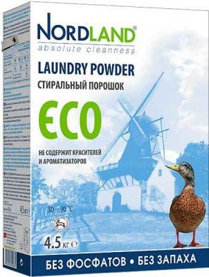 NORDLAND Порошок для стирки ECO 4,5кг таблетки д стирки nordland eco 24х33 75г