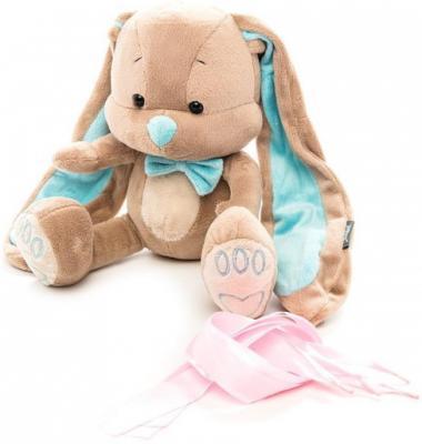 Мягкая игрушка зайчик с бабочкой Jack Lin JL-014-25-КСО текстиль искусственный мех наполнитель голубой бежевый 25 см мягкая игрушка disney салли герой мультфильма голубой текстиль 25 см