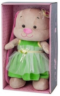 Мягкая игрушка заяц Jack Lin Зайка в Зеленом Платье искусственный мех трикотаж пластмасса 25 см d lin d110427