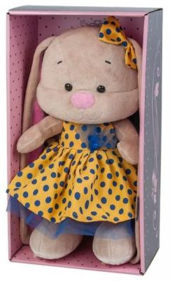 Мягкая игрушка заяц Jack Lin Зайка в Желтом Платье искусственный мех трикотаж пластмасса 25 см