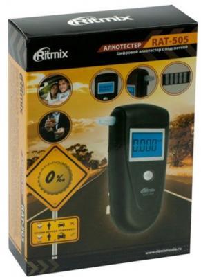 Алкотестер Ritmix RAT-505 полупроводниковый черный