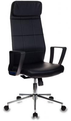 Кресло руководителя Бюрократ T-995ECO/BLACK черный искусственная кожа крестовина хром