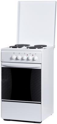 Плита Электрическая Flama AE 1409 W белый эмаль (эмалированная крышка) электрическая плита flama ae 1401 w эмаль белый