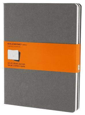 Блокнот Moleskine CAHIER JOURNAL CH321 XLarge 190х250мм обложка картон 120стр. линейка серый (3шт) блокнот moleskine cahier journal large 130х210мм обложка картон 80стр линейка бежевый 3шт [qp416]