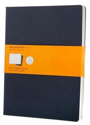 Блокнот Moleskine CAHIER JOURNAL CH221 XLarge 190х250мм обложка картон 120стр. линейка синий индиго (3шт) блокнот moleskine cahier journal large 130х210мм обложка картон 80стр линейка бежевый 3шт [qp416]