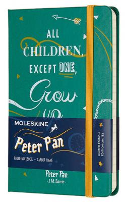 Блокнот Moleskine Limited Edition PETER PAN LEPN01AMM710 Pocket 90x140мм 192стр. линейка Indians цена