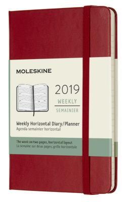 Еженедельник Moleskine CLASSIC WKLY Pocket 90x140мм 144стр. красный еженедельник moleskine limited edition denim wknt pocket 90x140мм 144стр черный