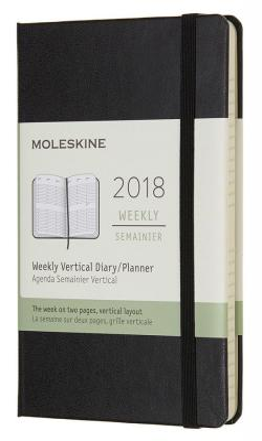 Картинка для Еженедельник датированный Moleskine CLASSIC WKLY VERTICAL Pocket 90x140 мм картон DHB12WV2