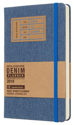 Ежедневник Moleskine Limited Edition DENIM Large 130х210мм 400стр. синий new arrival luxury top leather ankle cuffs brown suede feet cuffs sex restraint products adult sex toys