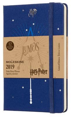 Еженедельник Moleskine Limited Edition HARRY POTTER WKNT Pocket 90x140мм 144стр. синий harry potter ollivanders dumbledore the elder wand in box prop replica
