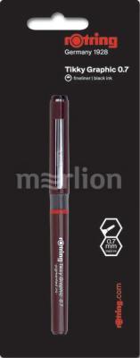 Ручка капиллярная Rotring Tikky Graphic (1904755) 0.7мм черные чернила casual graphic racerback tank top